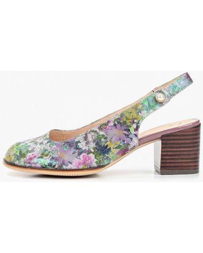 Туфли на каблуке кожаные с открытой пяткой Balex