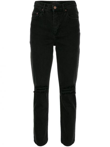 Хлопковые черные джинсы с поясом на молнии Nobody Denim