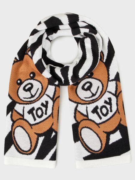 Шерстяной белый шарф Love Moschino