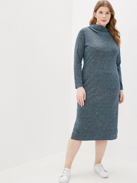 Платье платье-толстовка синее Amarti