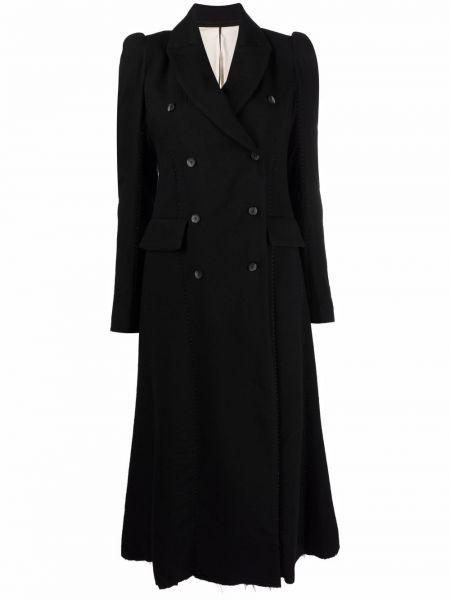 Черное шерстяное пальто Masnada