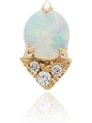 Желтые серьги-гвоздики Lizzie Mandler Fine Jewelry