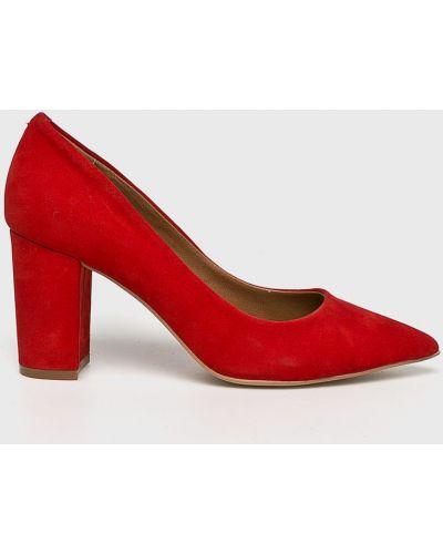 Кожаные туфли на каблуке из нубука Steve Madden