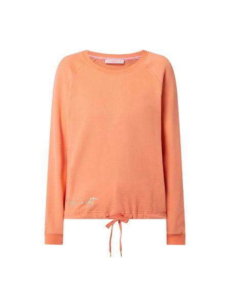 Pomarańczowa bluza bawełniana z raglanowymi rękawami Frieda & Freddies