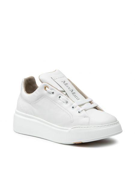 Białe półbuty casual Max Mara