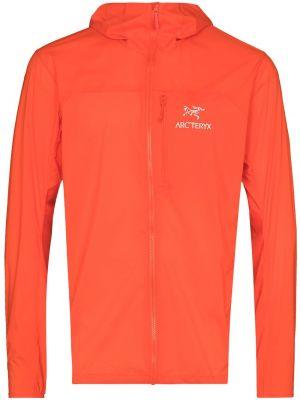 Pomarańczowa bluza z długimi rękawami z haftem Arcteryx
