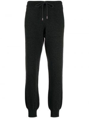 Кашемировые серые спортивные брюки с манжетами Barrie