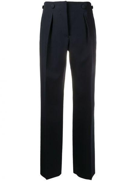 Синие прямые брюки с карманами Lanvin