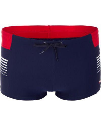 Плавки-боксеры красные для бассейна Fila