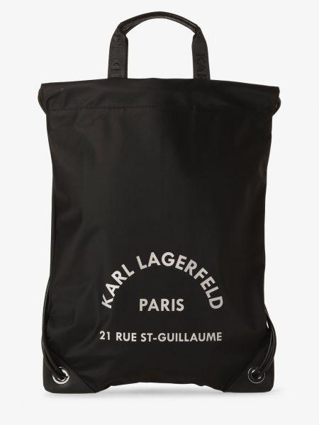 Skórzany plecak sport czarny Lagerfeld