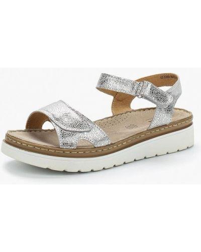 Сандалии серебряного цвета Zenden Comfort