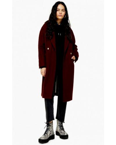 Пальто бордовый пальто Topshop