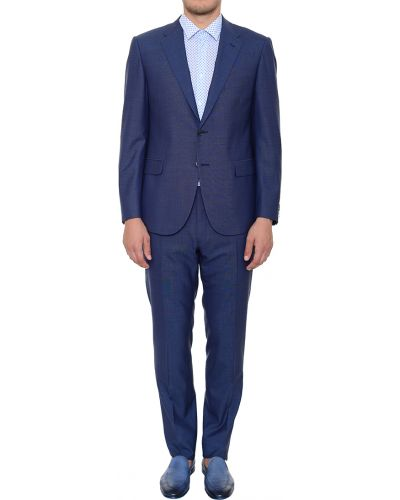 Шерстяной костюм - синий Corneliani