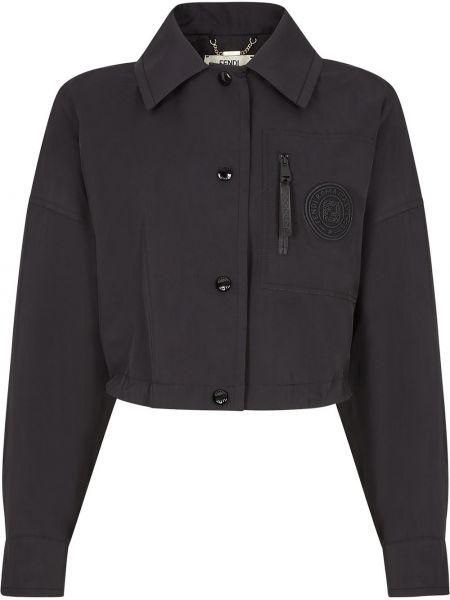 Sukienka marynarka czarny kurtka z logo Fendi