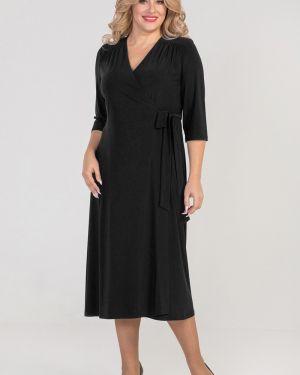 Платье с поясом с запахом с V-образным вырезом Luxury