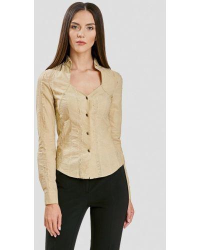 Блузка с длинным рукавом бежевый Ано