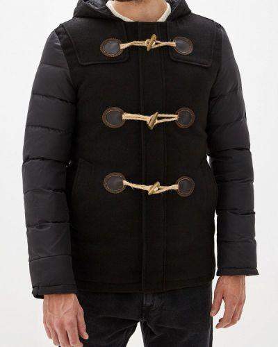 Утепленная куртка демисезонная черная Young & Rich