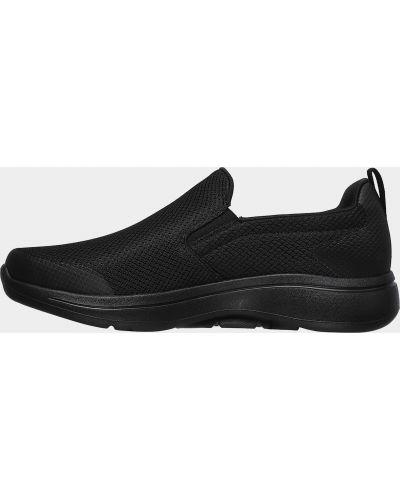 Слипоны - черные Skechers