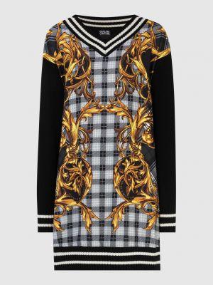 Шерстяной пуловер - черный Versace Jeans Couture
