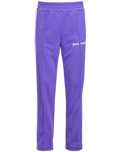 Golf fioletowy spodnie w paski z boku z kieszeniami z paskami Palm Angels