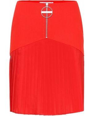 Wełniany pofałdowany spódnica sportowa Givenchy