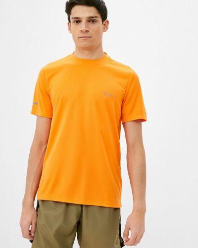 Оранжевая спортивная футболка Topman