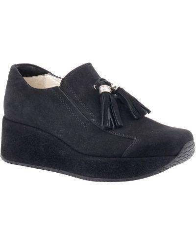 Черные туфли на каблуке на платформе Kelton