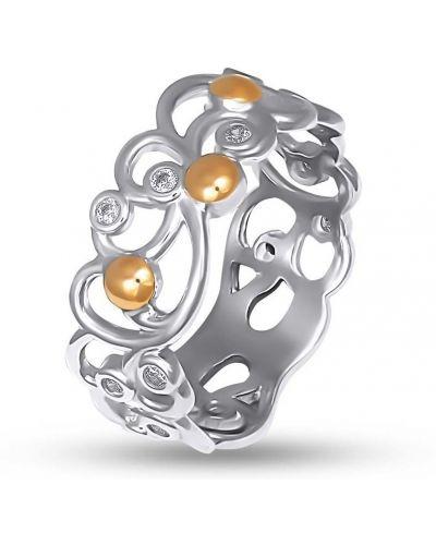 Кольцо с камнями - золотое Bigsun