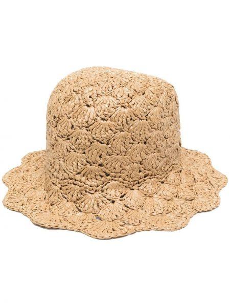 Beżowy kapelusz z wiskozy Red Valentino