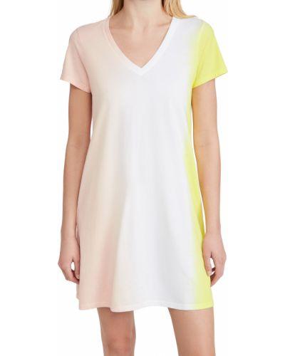 Трикотажное платье с короткими рукавами с V-образным вырезом Atm Anthony Thomas Melillo
