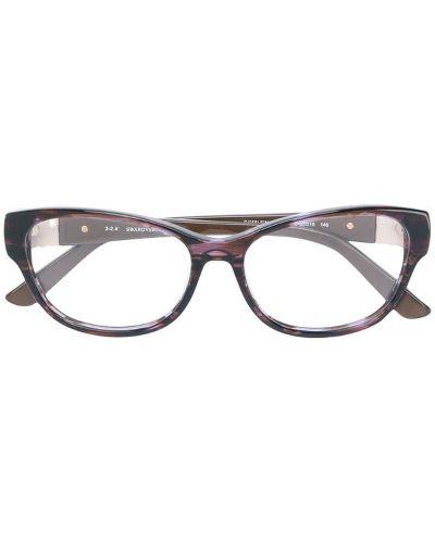 Очки кошачий глаз коричневый Swarovski Eyewear