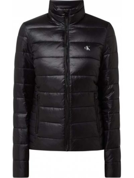 Czarna kurtka pikowana ze stójką Calvin Klein Jeans