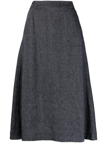 С завышенной талией синяя юбка миди на молнии SociÉtÉ Anonyme