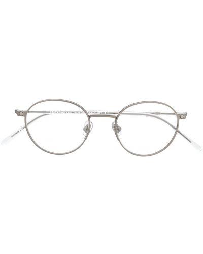 Zielone okulary srebrne Snob
