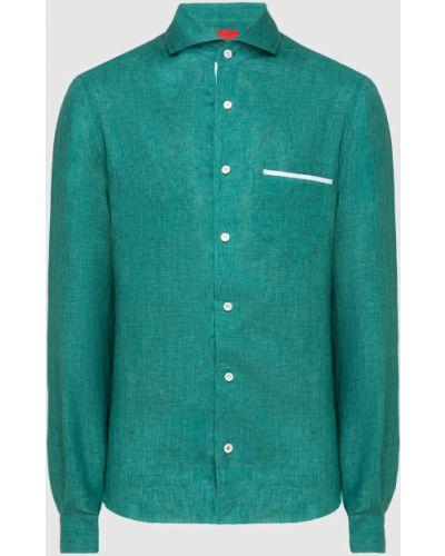 Льняная рубашка - зеленая Isaia