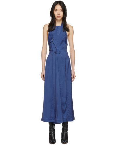 Платье с поясом шелковое с открытой спиной Jacquemus