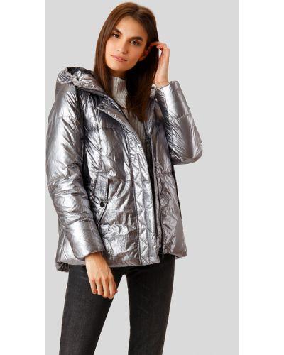 Утепленная куртка нейлоновая серебряная Finn Flare