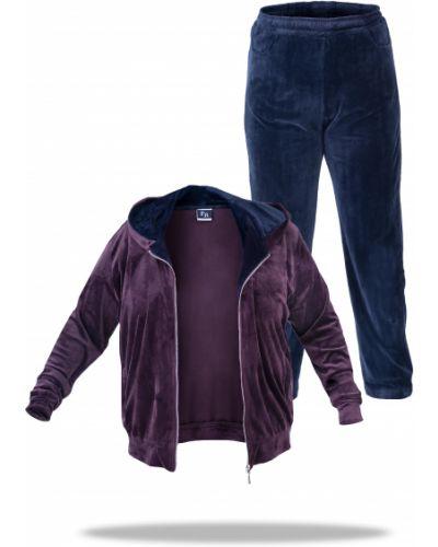 Велюровый спортивный костюм - фиолетовый Freever