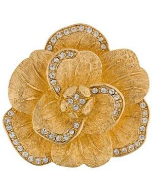 Брошь металлическая - желтая Christian Dior Pre-owned