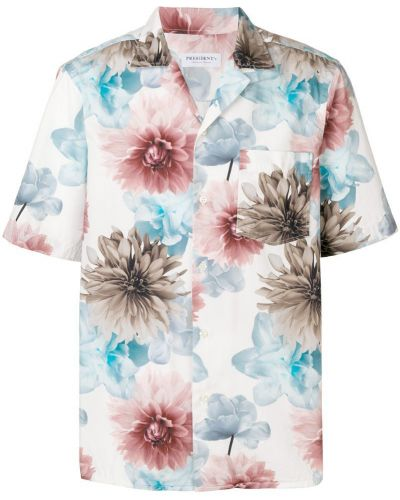 Рубашка с короткими рукавами с принтом с цветочным принтом President's