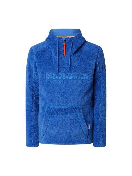 Niebieska bluza z kapturem Napapijri