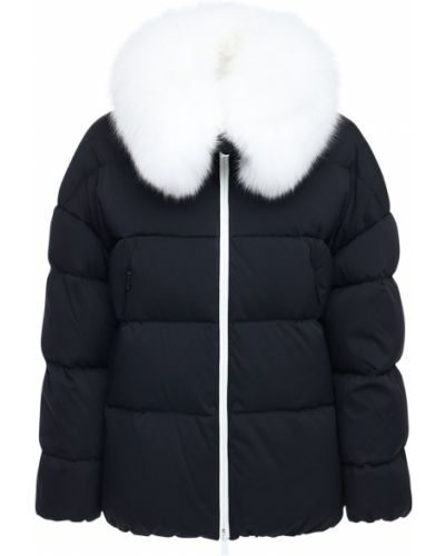 Пуховая черная куртка с капюшоном Tatras