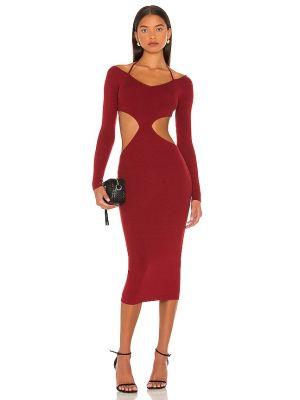 Платье на бретелях - бордовое Nbd