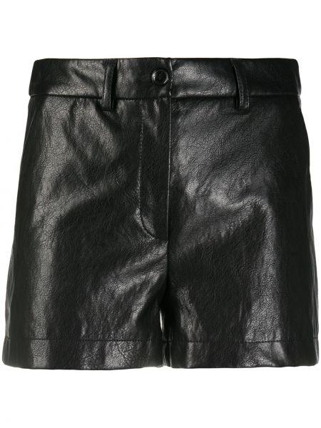 Хлопковые черные с завышенной талией шорты Boutique Moschino