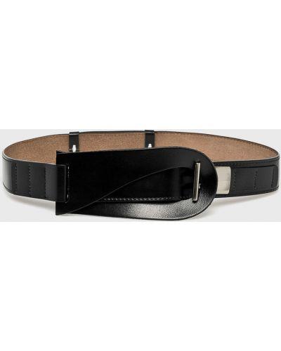 Черный ремень кожаный Answear