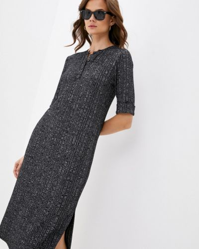 Прямое серое платье Арт-Деко