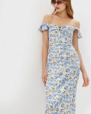 Платье с открытыми плечами осеннее Ruxara