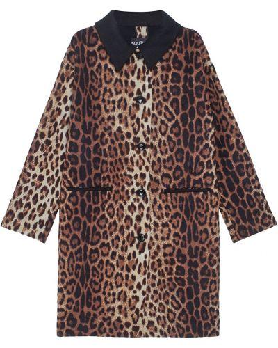 Пальто леопардовый с принтом Boutique Moschino