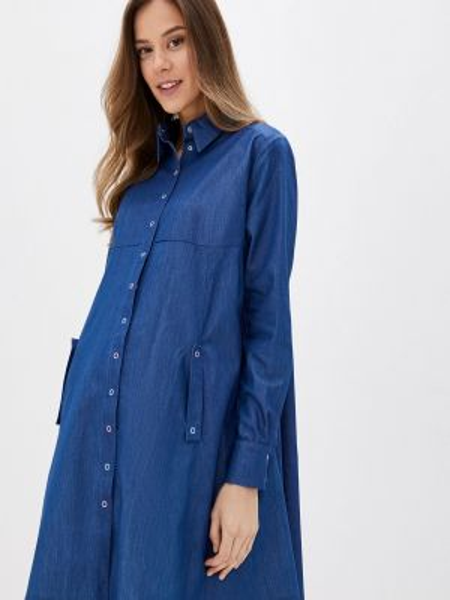 Синее джинсовое платье Olesya Zubova