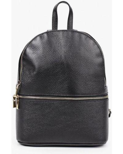 Кожаный рюкзак - черный Pulicati